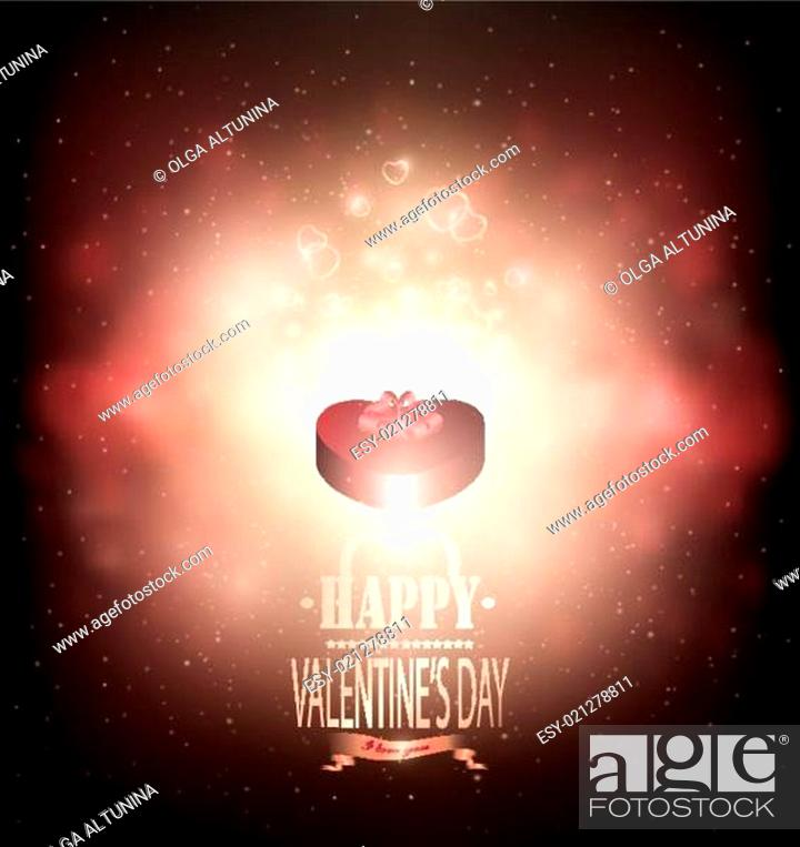 Stock Vector: Valentine's Day Background.