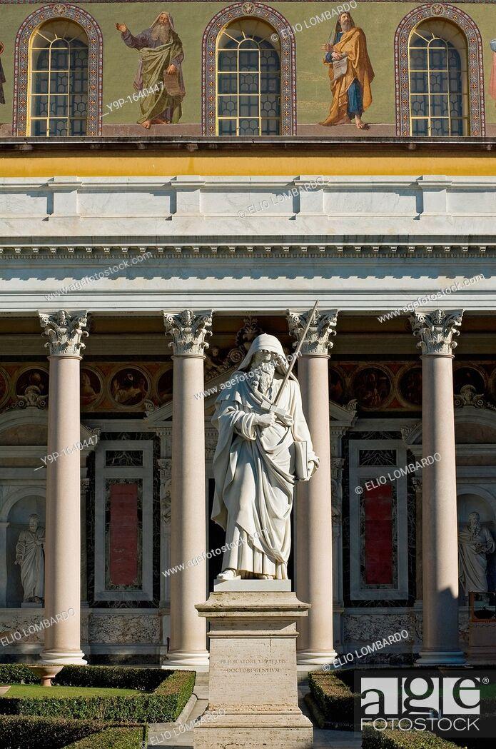 Stock Photo: Basilica of San Paolo fuori le mura, Rome, Italy.