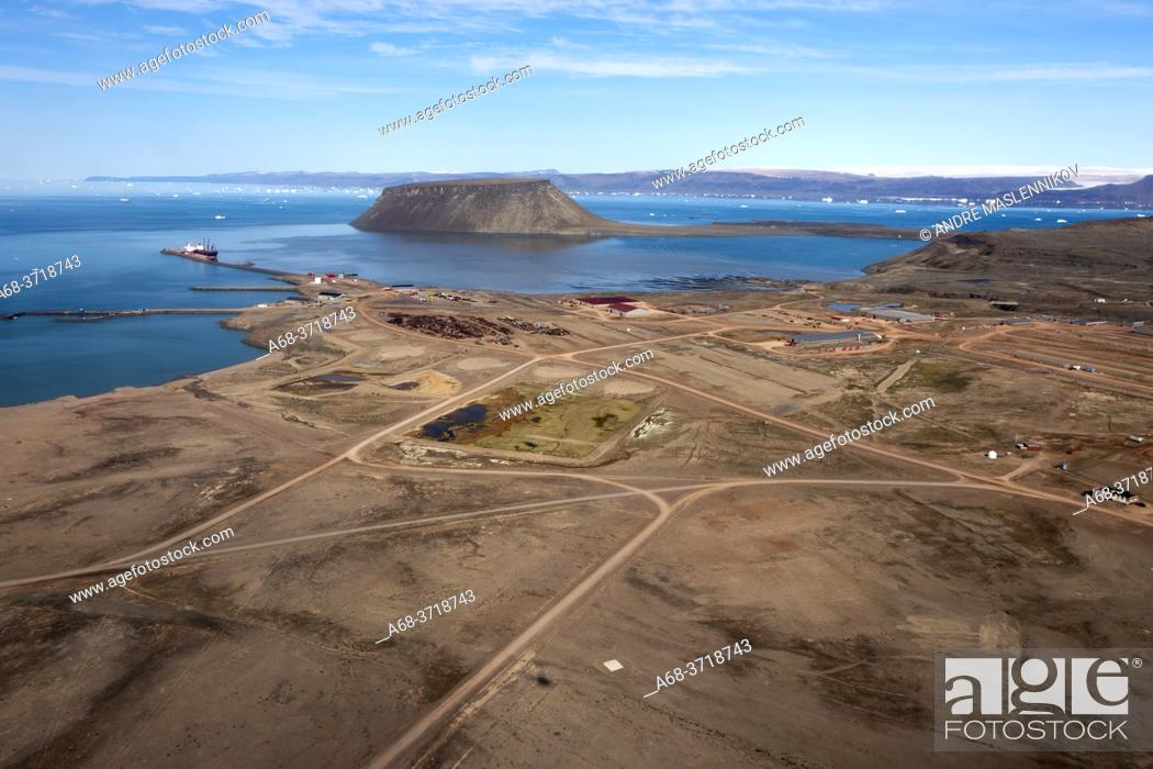 Stock Photo: Thule Air Base on Greenland.