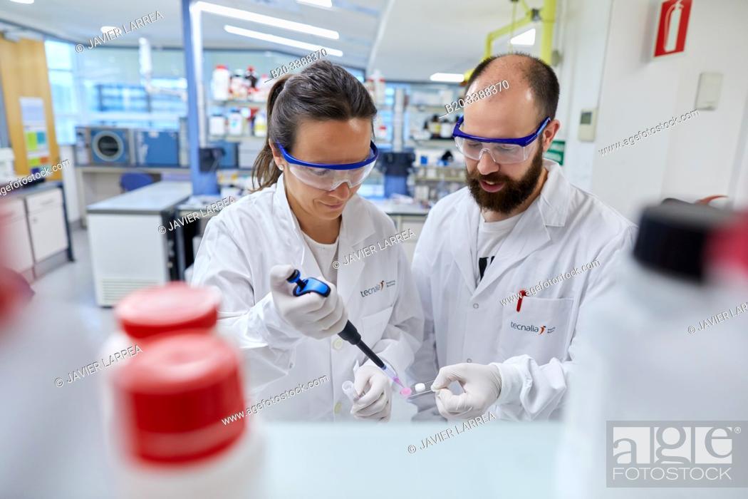 Stock Photo: Chemical laboratory, Biomaterials Laboratory, Unit of Health Technology, Technology Centre, Tecnalia Research & Innovation, Donostia, San Sebastian, Gipuzkoa.