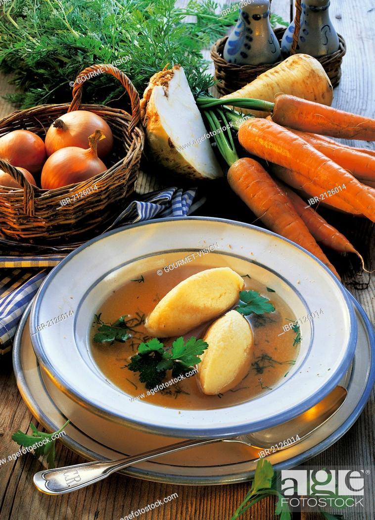 4c7c22a5dfb6 Stock Photo - Semolina dumpling soup