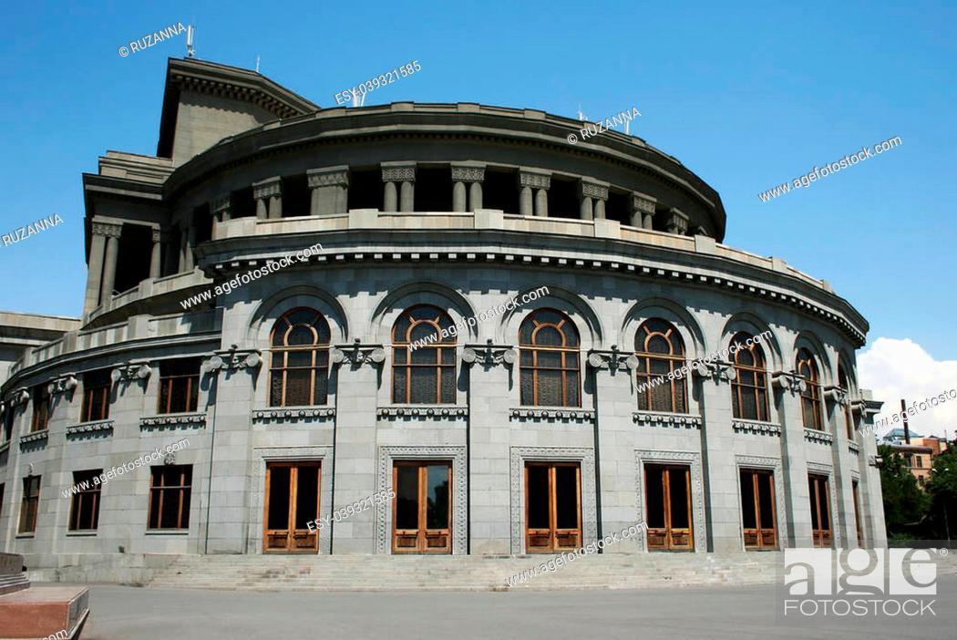 Stock Photo: Opera theater in Yerevan, Armenia.