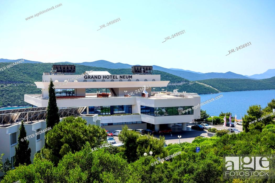 Stock Photo Grand Hotel Bathing Resort Neum Bosnia And Herzegovina The Only Access To Sea In Country