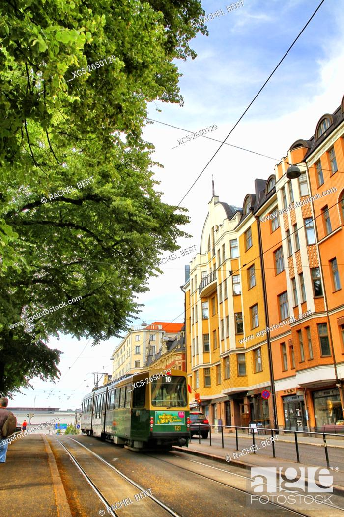Stock Photo: Ludvigsgatan Street, Helsinki, Finland, Europe.