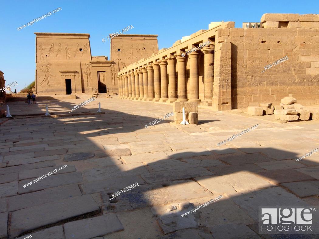 Imagen: Philae, Isis Temple, Aswan, Upper Egypt.