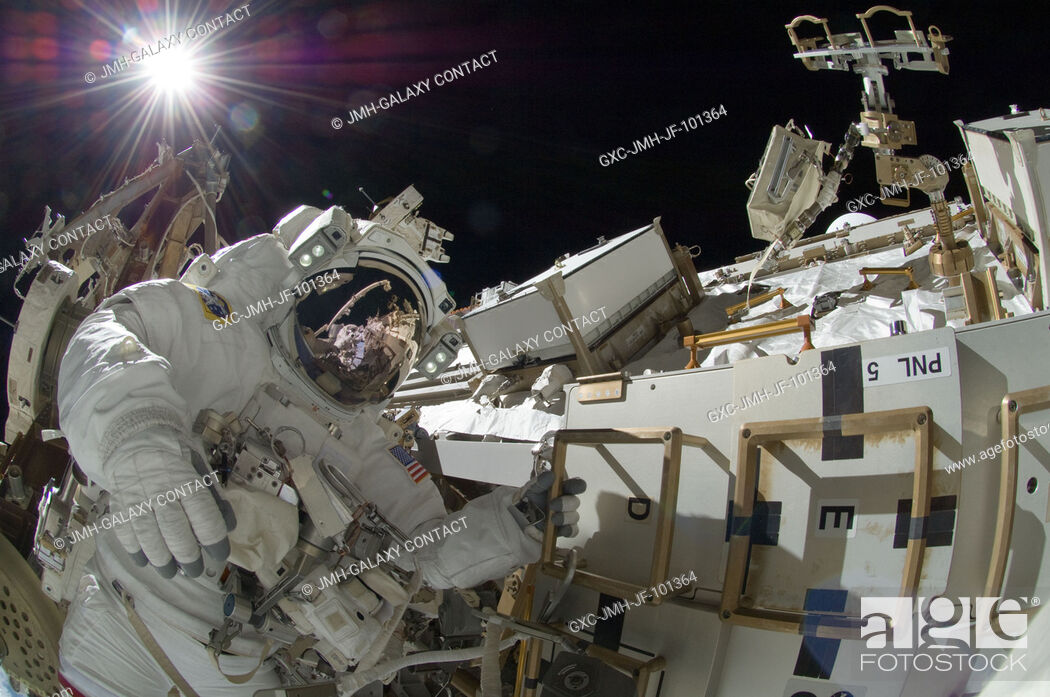 Stock Photo: NASA astronaut Sunita Williams, Expedition 32 flight engineer, participates in the mission's third session of extravehicular activity (EVA).