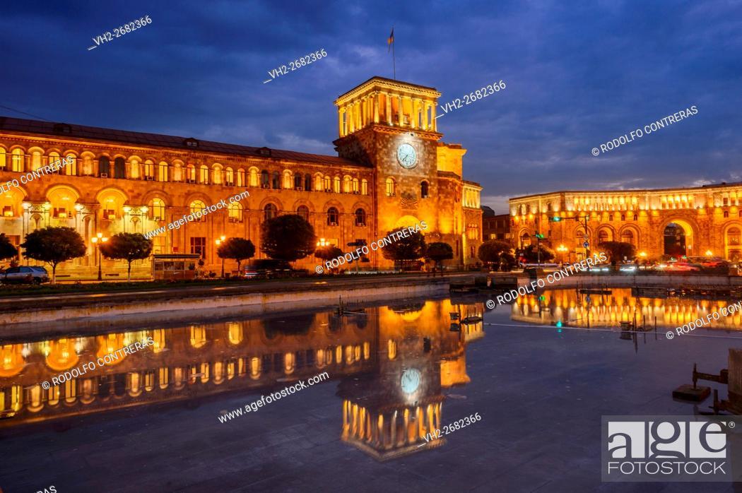 Stock Photo: Republic Square in Yerevan, Armenia.