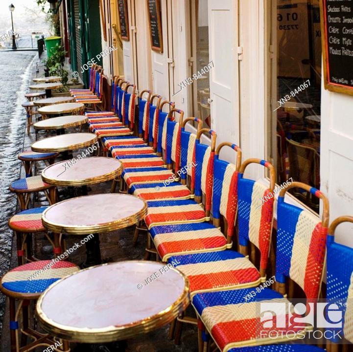 Imagen: Cafe restaurant, Montmartre, Paris, France, Europe.