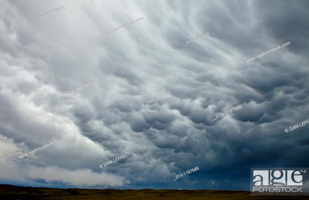 Stock Photo: Storm clouds, Wyoming, USA.