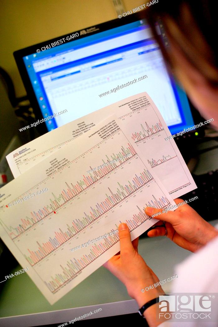 Stock Photo: The unit 613 of the French National Institute for Health and Medical Research Inserm carries researches on molecular and epidemiological genetics in Brest.