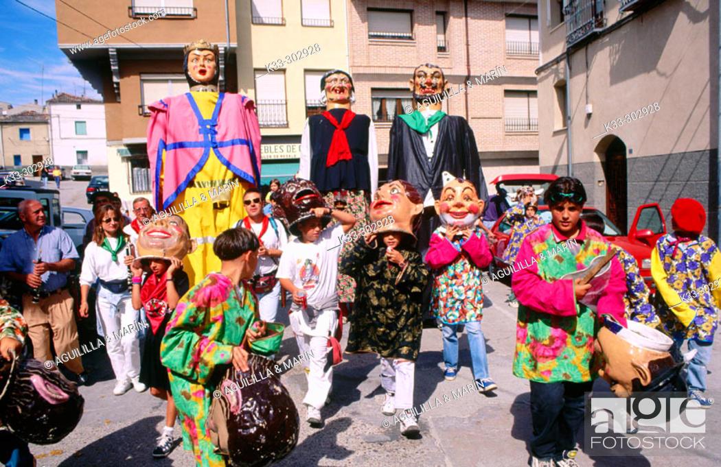 Stock Photo: 'Encierros'. Cuellar. Segovia province. Castilla-La Mancha. Spain.