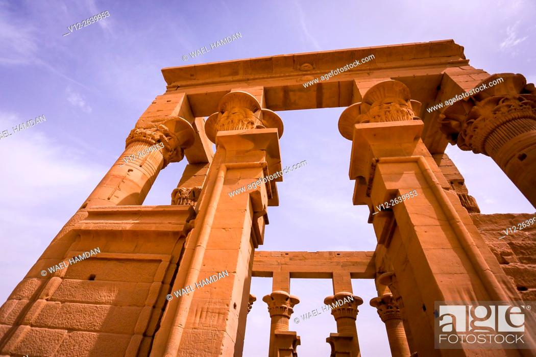 Stock Photo: Temple of Isis in Philae, Aswan, Egypt.