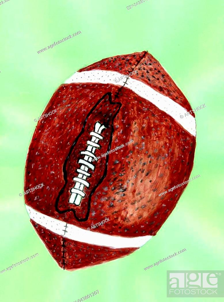 Grunge Sketch Of Rugby Ball Hand Drawn Illustration Stock Photo Picture And Low Budget Royalty Free Image Pic Esy 043801207 Agefotostock