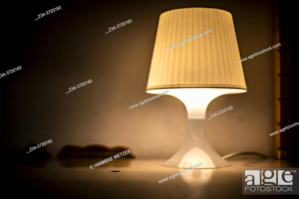 Stock Photo: Lamp on a shelve at Strijp-S, Eindhoven, The Netherlands, Europe.