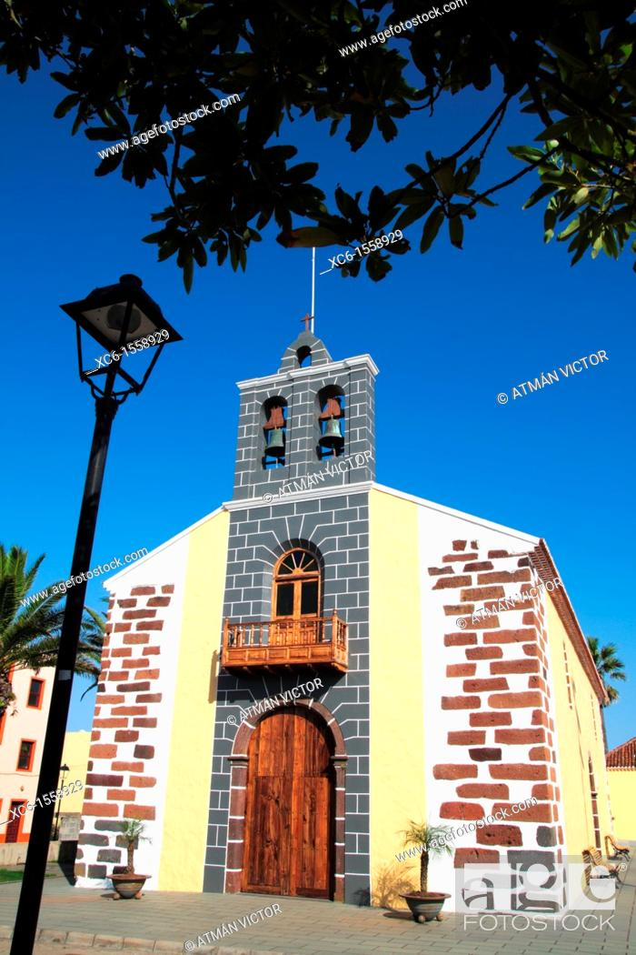 Stock Photo: Church, Barlovento, La Palma, Canary Islands, Spain.