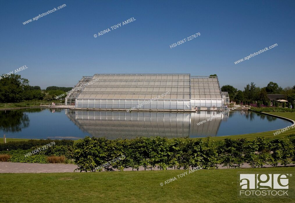 Stock Photo: UK. England. The new Bicentinary Glasshouse. Wisley Gardens. Surrey.