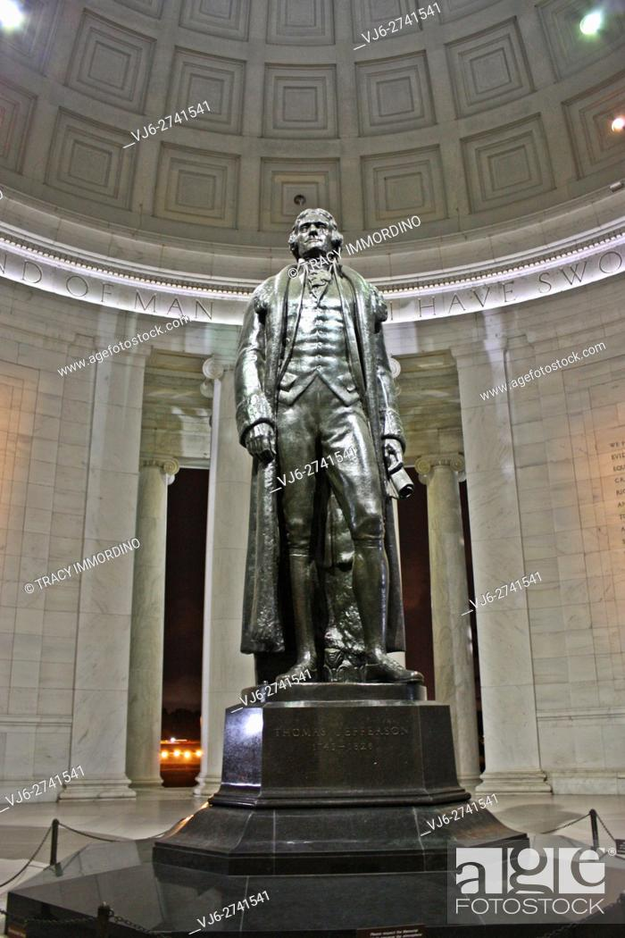 Stock Photo: Statue of Thomas Jefferson in the Jefferson Memorial in Washington, D. C. , USA.