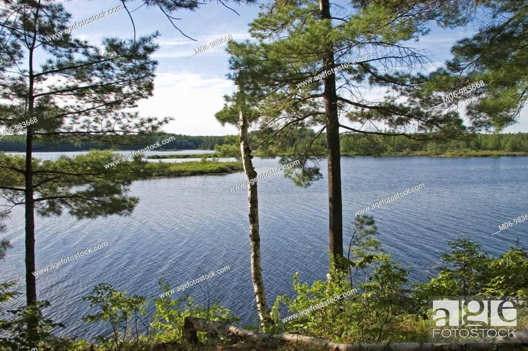 Stock Photo: Day Lake in the Chequamegon-Nicolet National Forest, Wisconsin USA.