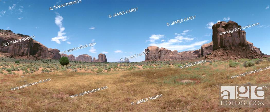 Stock Photo: USA, canyons, panoramic view.