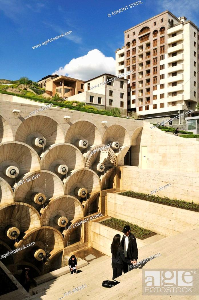 Stock Photo: Cascade complex at downtown Yerevan, Jerewan, Armenia, Asia.