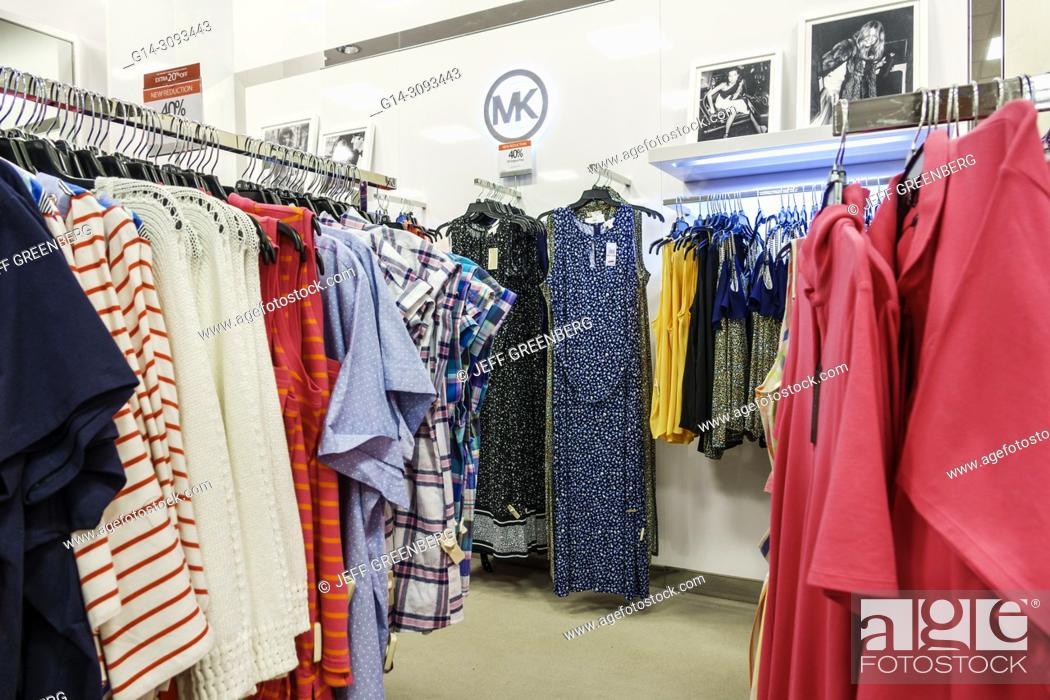 39f87b90b0afb Stock Photo - Florida, Jensen Beach, Macy's Department Store, inside,  shopping, women's plus size clothing, dresses, Michael Kors, designer,  display, sale,