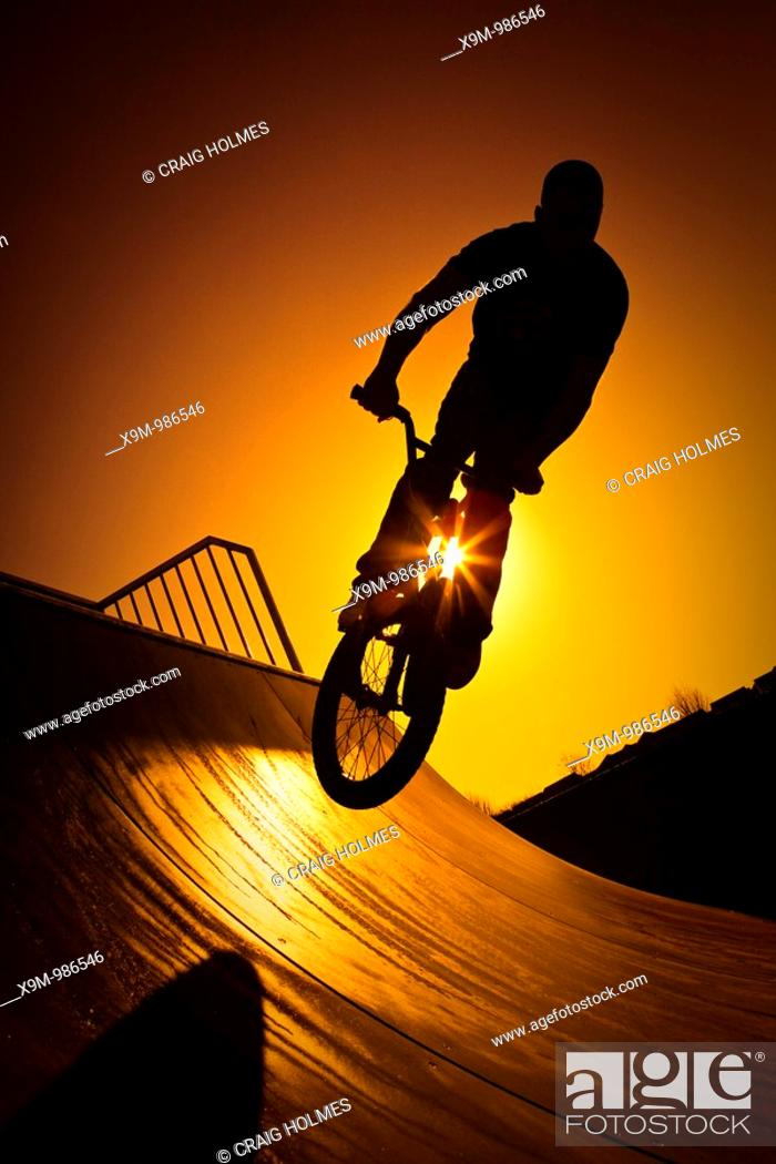 Stock Photo: Bmx park on a sunny day.