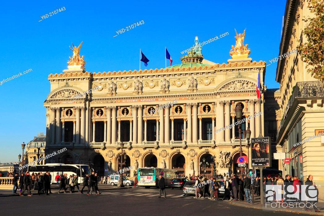 Stock Photo: Opera Garnier, Paris, France.