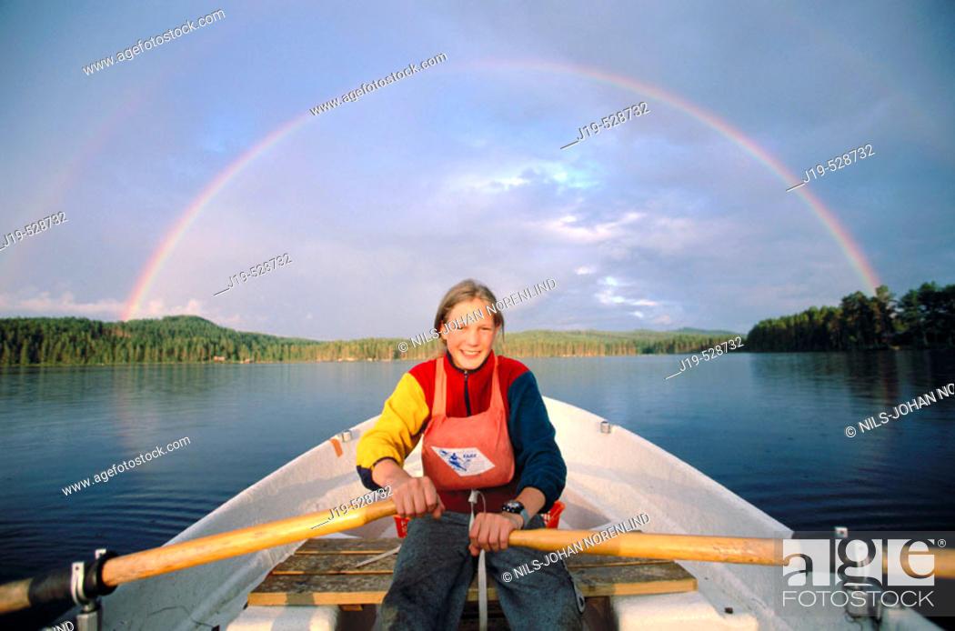 Stock Photo: Rowing. Sweden.