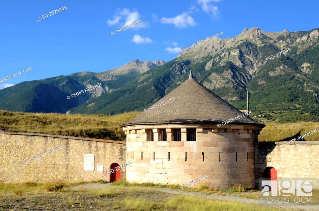 Stock Photo: Vauban Fortifications Mont-Dauphin Hautes-Alpes France.