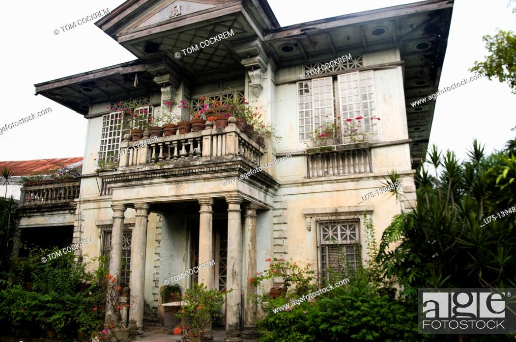 Stock Photo: Ancestral house, Jaro, Iloilo, Panay, Philippines.