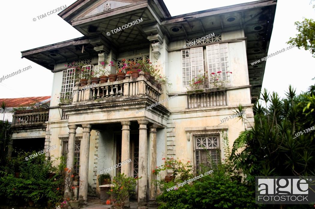 Stock Photo: Ancestral house, Jaro, Iloilo, Panay, Philippines.