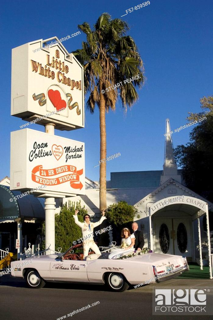Lil Wedding Chapel.The Little Wedding Chapel Las Vegas Nevada Usa Stock Photo