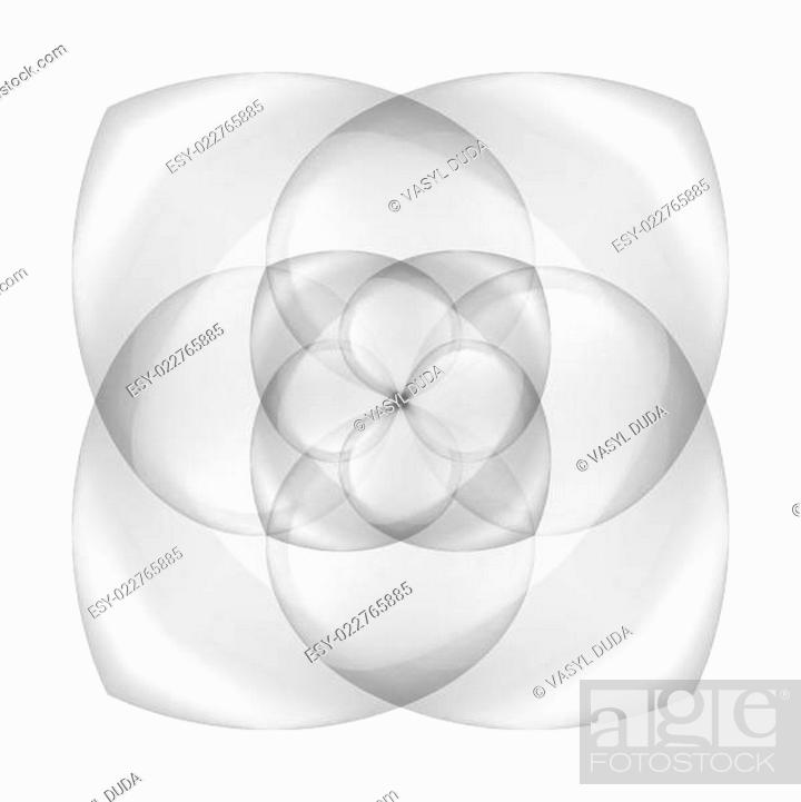 Stock Vector: Abstract transparent flower.