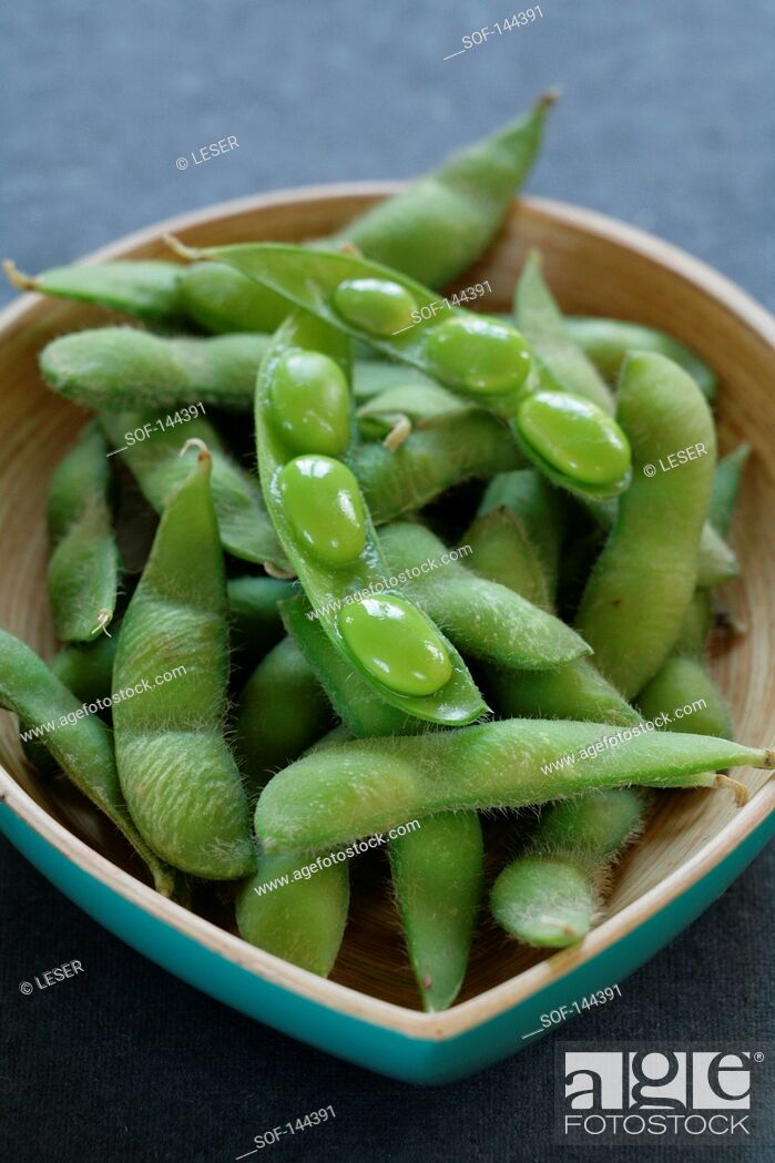 Imagen: Edamame soya beans.
