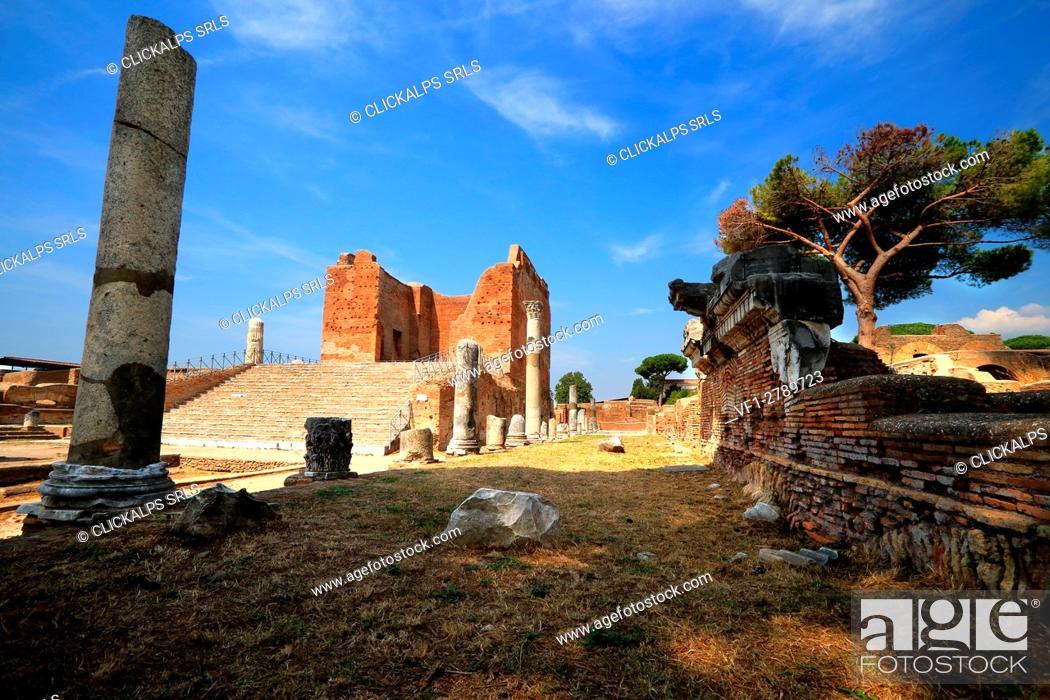 Stock Photo: Archaeological area of Ostia Antica, Roma district, Lazio Italy.