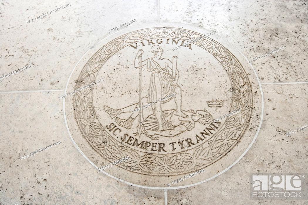 Stock Photo: Seal of Virginia in Fort Bonifacio, Manila, Philippines.