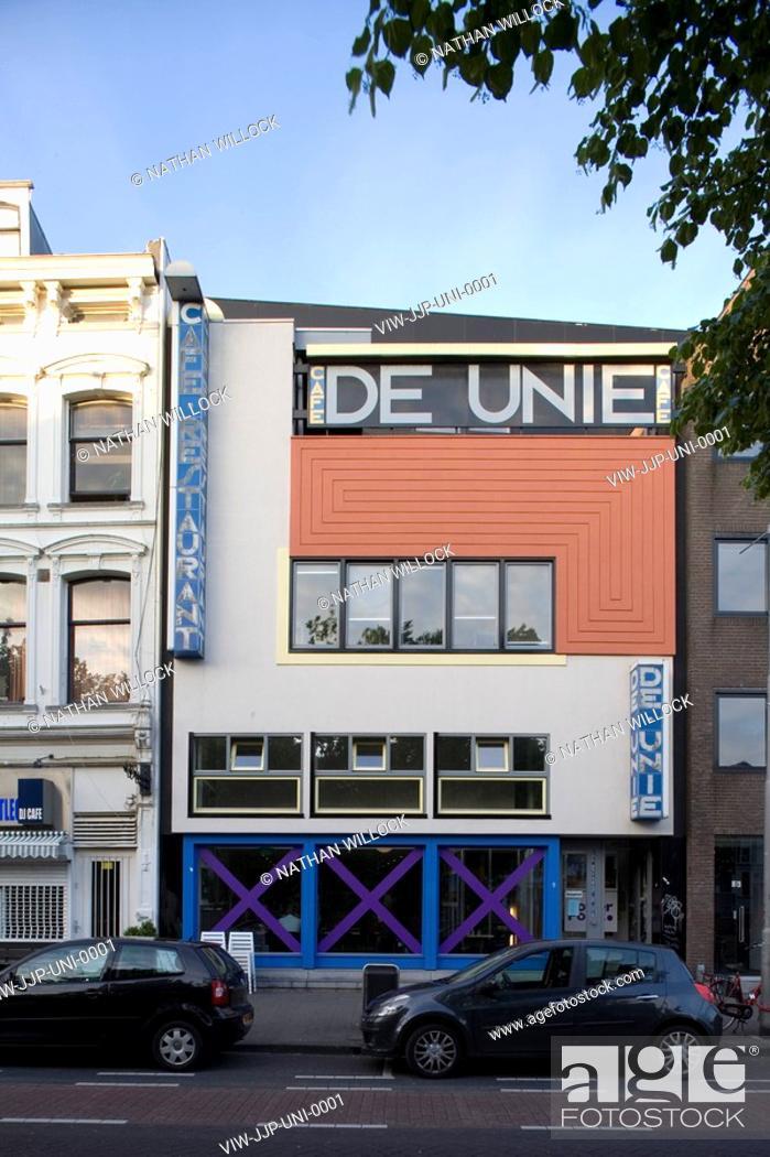 Top CAFE UNIE, ROTTERDAM, NETHERLANDS, Architect JJP OUD, 1925, Stock @SW86