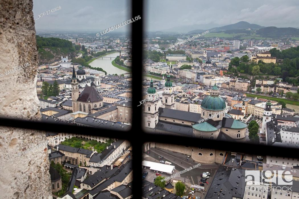 Stock Photo: view from the Fortress Hohensalzburg, Salzburg, Austria.