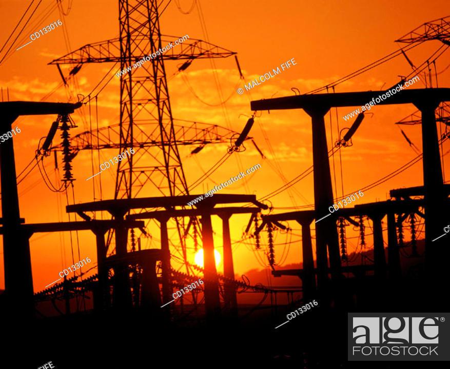 Stock Photo: Electricity sub-station. Edinburgh. Scotland.