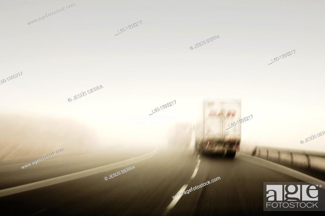 Stock Photo: Nacional II road, Spain.