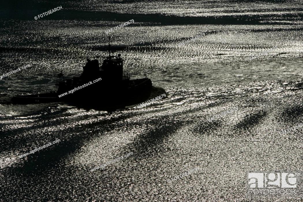 Stock Photo: warship, ship, railing, season, calm, marine.