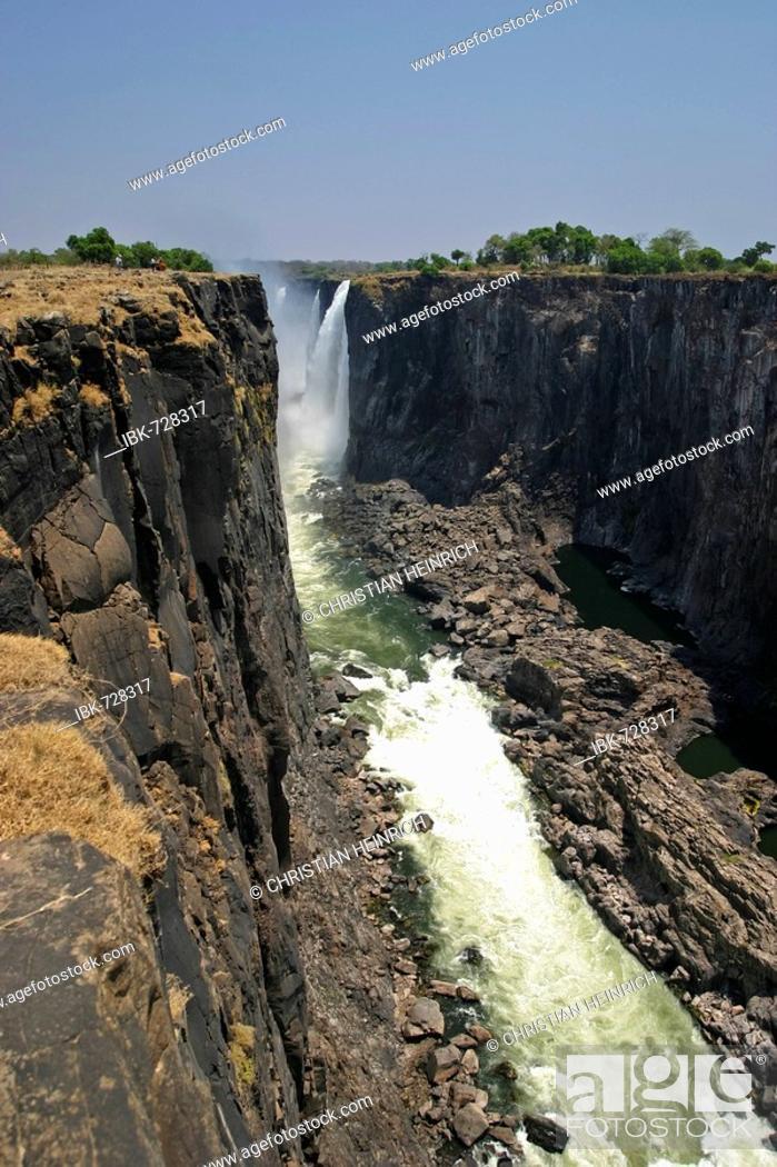 Victoria Falls View From Zimbabwe Zambezi River Zambia