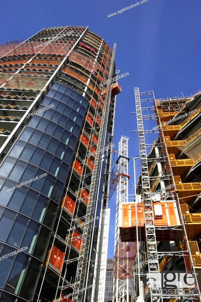 Stock Photo: Building under construction.