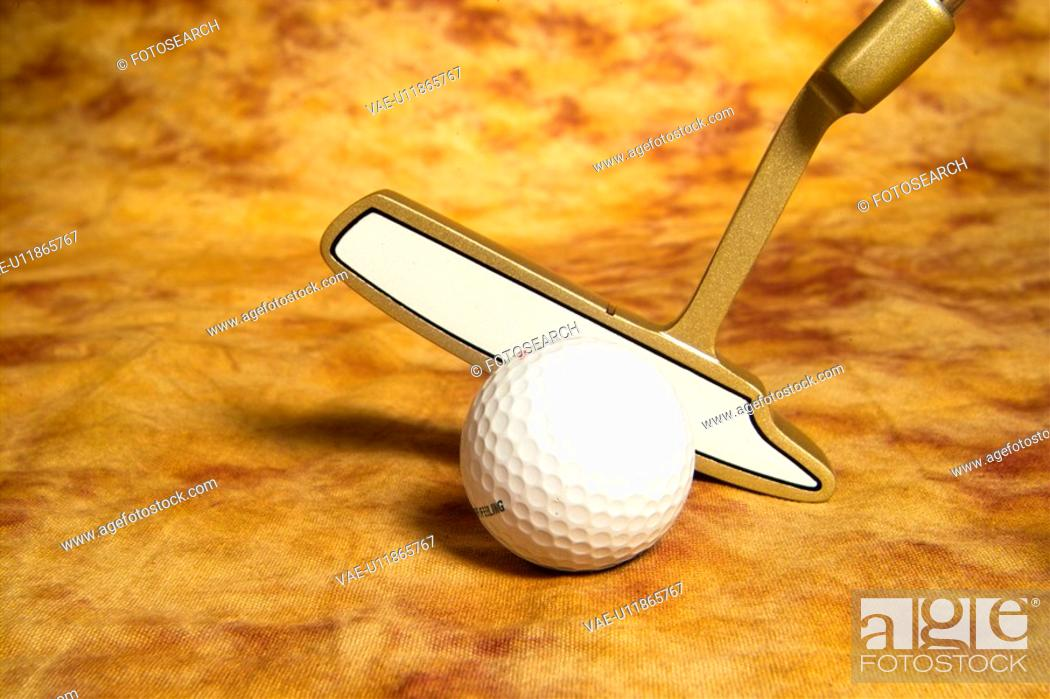 Stock Photo: sports equipment, club, golf, leisure, sports, golf ball, ball.