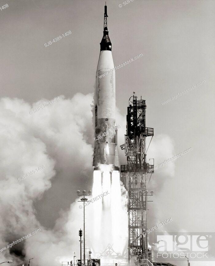 Stock Photo: Mercury-Atlas Test Launch.