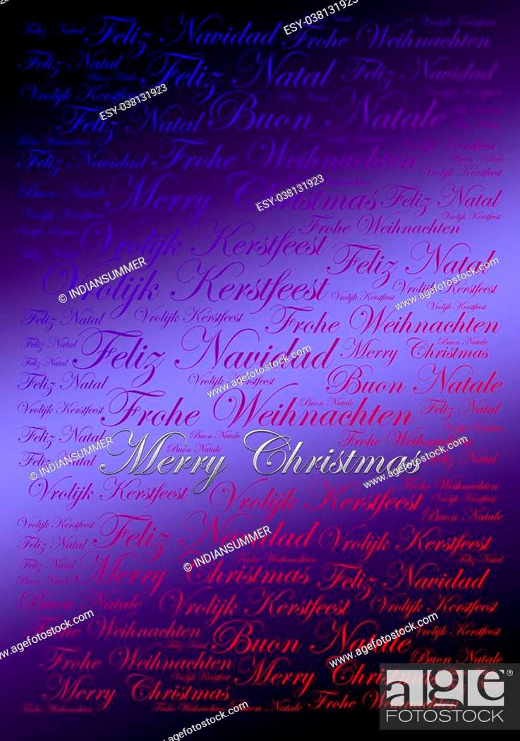 Buon Natale Meaning In English.Merry Christmas Holiday Word Cloud Background Stock Photo Picture
