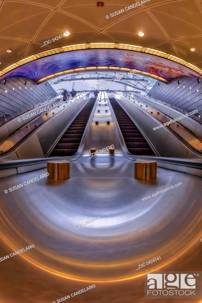 Stock Photo: Hudson Yards NYC Subway Station.