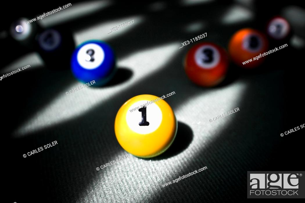 Stock Photo: Billiard balls.