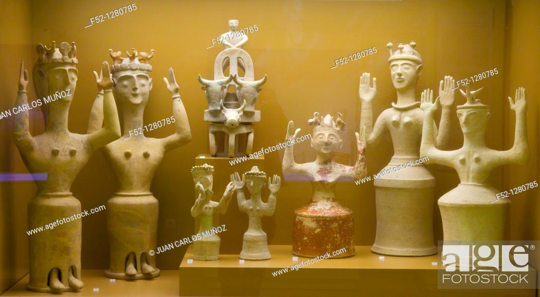 Stock Photo: Heraklion Archaeological Museum, Crete, Aegean Sea, Greece.