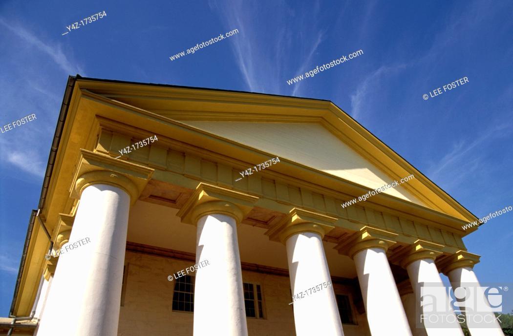 Stock Photo: Washington, DC, Monuments, Arlington House, Robert E  Lee Memorial at Arlington National Cemetery in Virginia.